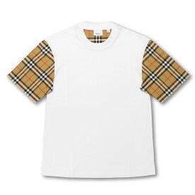 バーバリー BURBERRY Tシャツ レディース 8014896 半袖Tシャツ WHITE ホワイト