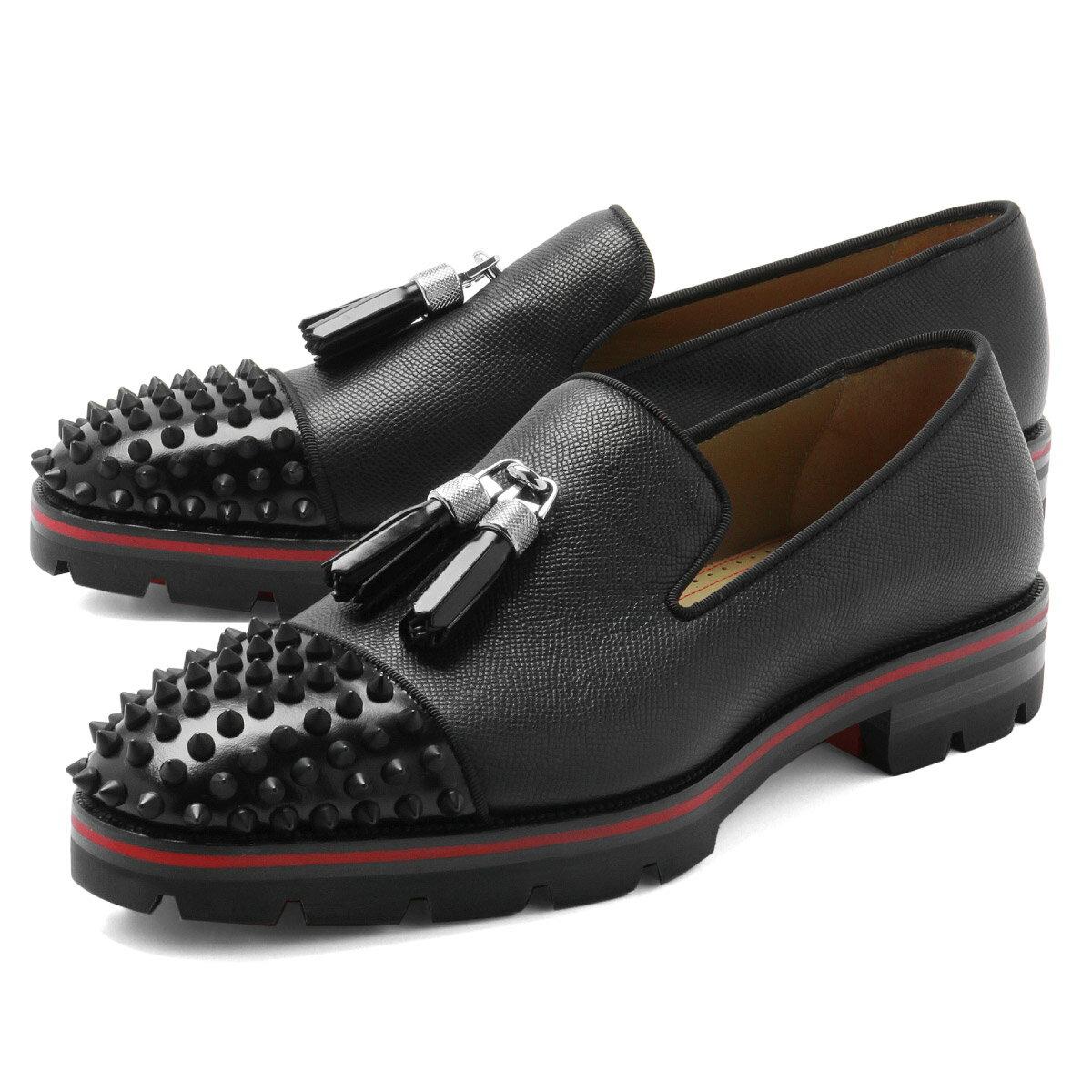 クリスチャン ルブタン Christian Louboutin シューズ メンズ 3180371 B026 スリッポン RIVARO リバロ BLACK/BLACK MAT ブラック