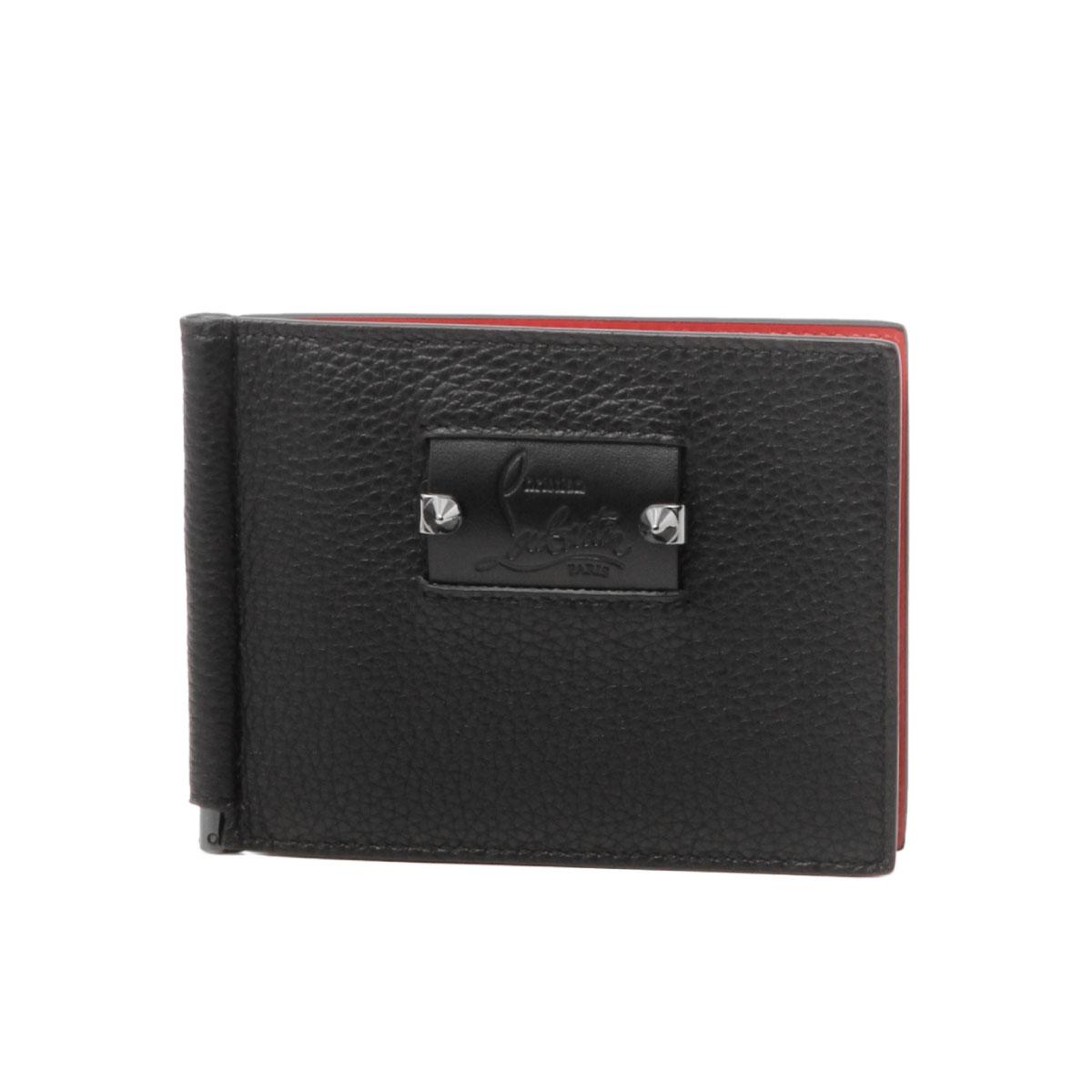 クリスチャン ルブタン Christian Louboutin 財布 メンズ 3185050 B078 二つ折り財布 CLIPSOS LOUBICITY クリップソス ルビシティ BLACK/GUNMETAL ブラック