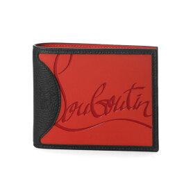 クリスチャン ルブタン Christian Louboutin 財布 メンズ 3195052 H734 二つ折り財布 COOLCARD SNEAKERS SOLE クールカード スニーカーズ ソール LOUBI/BLACK ブラック