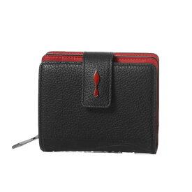 クリスチャン ルブタン Christian Louboutin 財布 レディース 3195015 CM53 二つ折り財布 ミニ PALOMA パロマ BLACK/BLACK ブラック