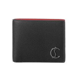 クリスチャン ルブタン Christian Louboutin 財布 メンズ 3195053 B078 二つ折り財布 COOLCARD クールカード BLACK/GUN METAL ブラック