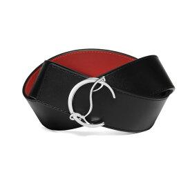 クリスチャン ルブタン Christian Louboutin ベルト メンズ 1205020 Q501 BLACK/LOUBI/SILVER ブラック