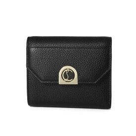 クリスチャン ルブタン Christian Louboutin 財布 レディース 3205081 CM6S 三つ折り財布 ELISA エリザ BLACK/GOLD ブラック
