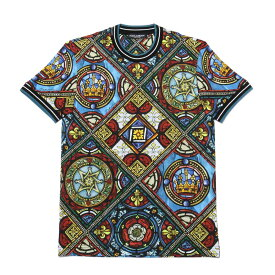 ドルチェアンドガッバーナ DOLCE&GABBANA Tシャツ メンズ G8KC0T FS7TU HH95C 半袖Tシャツ MULTICOLOR マルチカラー