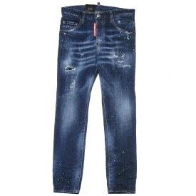 ディースクエアード DSQUARED 2 パンツ メンズ S71LB0635 S30342 470 クラッシュ&リメイク&ペイント加工 ジーンズ SKATER スケーター BLUE ブルー