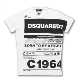 ディースクエアード DSQUARED 2 Tシャツ メンズ S74GD0697 S22427 100 半袖Tシャツ WHITE ホワイト