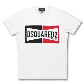 ディースクエアード DSQUARED 2 Tシャツ メンズ S71GD0981 S22427 100 半袖Tシャツ BUILT TUFF ビルト タフ WHITE ホワイト