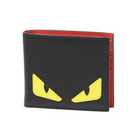 フェンディ FENDI 財布 メンズ 7M0169 O73 F0U9T 二つ折り財布 BAG BUGS バッグ バグズ NERO+GIALLO+ROSSO ブラック