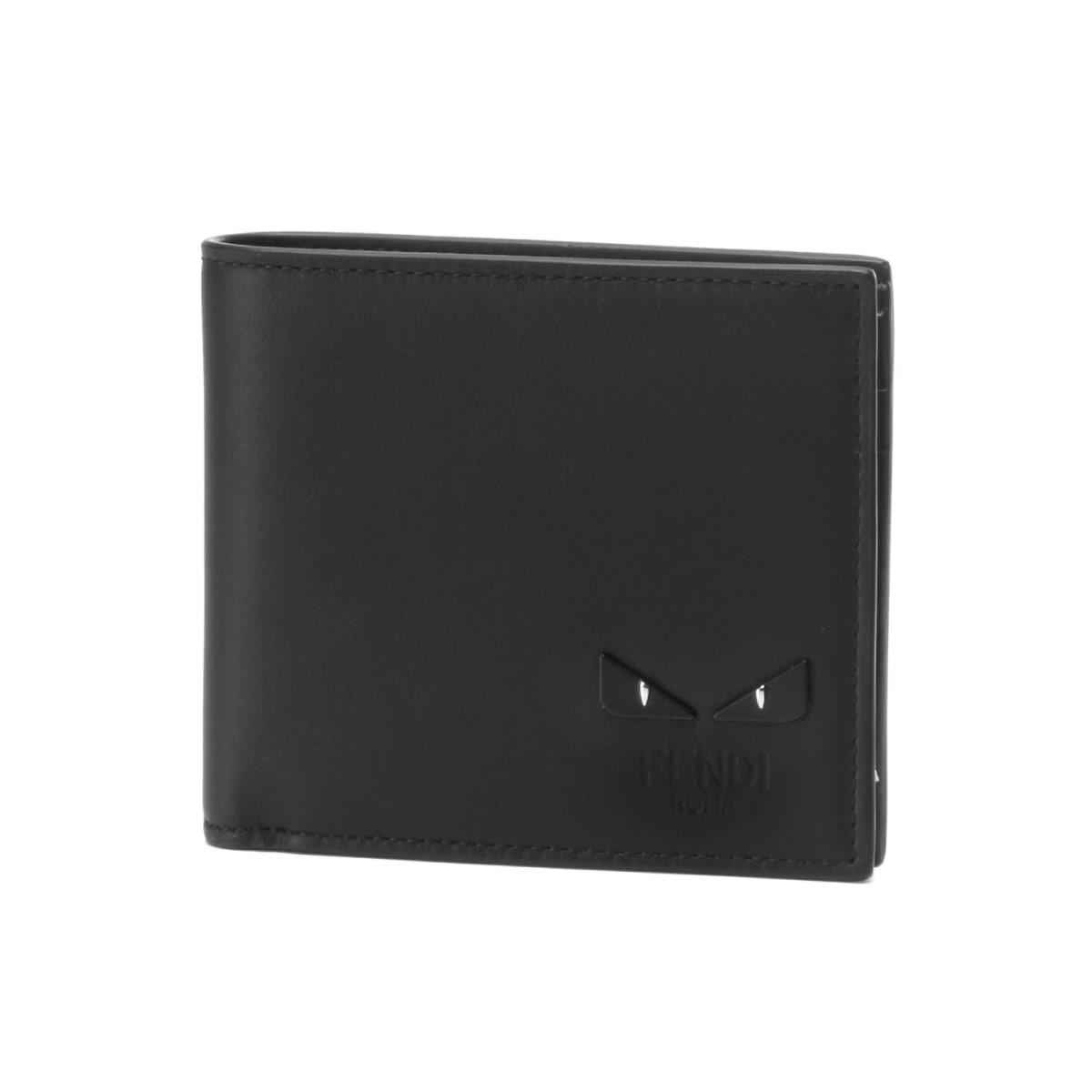 フェンディ FENDI 財布 メンズ 7M0169 6OC F0GXN 二つ折り財布 NERO+PALLADIO ブラック