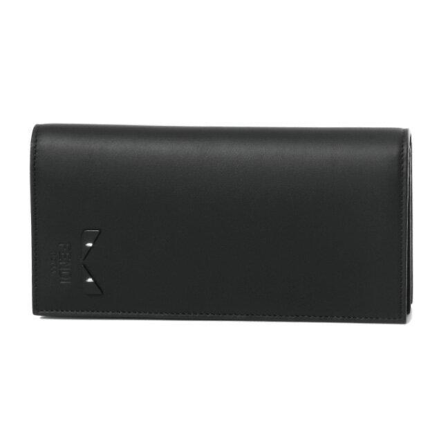 フェンディ FENDI 財布 メンズ 7M0186 6OC F0GXN 二つ折り長財布 NERO+PALLADIO ブラック