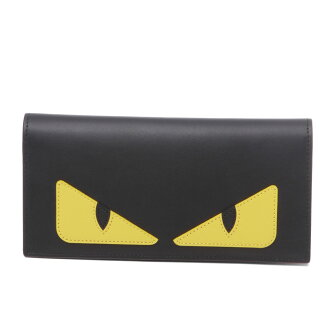 Fendi FENDI wallet men 7M0244 O73 F0U9T folio long wallet BAG BUGS bag bugs NERO+GIALLO+ROSSO black