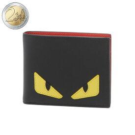 フェンディ FENDI 財布 メンズ 7M0001 O73 F0U9T 二つ折り財布 NERO+GIALLO+ROSSO ブラック