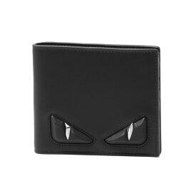フェンディ FENDI 財布 メンズ 7M0169 O76 F0GXN 二つ折り財布 NERO+PALLADIO ブラック