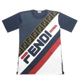 フェンディ FENDI Tシャツ レディース FAF100 A6JQ F14PK 半袖Tシャツ MARTINIQUE ダークブルー