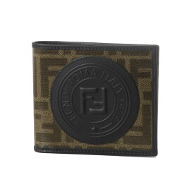 フェンディ FENDI 財布 メンズ 7M0169 A5K4 F17PZ 二つ折り財布 MOG.PAN+NR+NR+P ブラウン