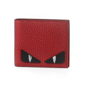 フェンディ FENDI 財布 メンズ 7M0169 A7TK F1648 二つ折り財布 R.MALBORO+NR+P レッド