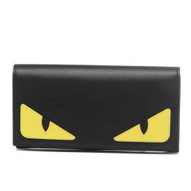 フェンディ FENDI 財布 メンズ 7M0264 O73 F0U9T 二つ折り長財布 BAG BUGS バッグ バグズ NERO+GIALLO+ROSSO ブラック