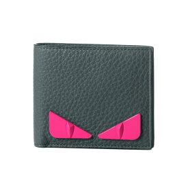 フェンディ FENDI 財布 メンズ 7M0169 A7TI F17H4 二つ折り財布 TEMPESTA+ROSA FLUO+P グレー