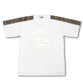 フェンディ FENDI Tシャツ レディース FAF073 A8WI F188P 半袖Tシャツ WHITE+TOBACCO ホワイト