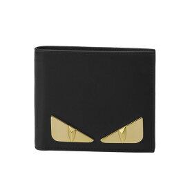 フェンディ FENDI 財布 メンズ 7M0169 SQP F0KUR 二つ折り財布 BAG BUGS バッグ バグズ NERO+ORO SOFT ブラック