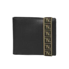 フェンディ FENDI 財布 メンズ 7M0266 A8VC F17BJ 二つ折り財布 NR+SUNFLOWERS+P ブラック