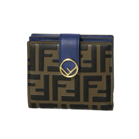 フェンディ FENDI 財布 レディース 8M0386 AAII F1B13 二つ折り財布 スモール MAYA NR+BLU NEON+OS ブラウン/ブルー