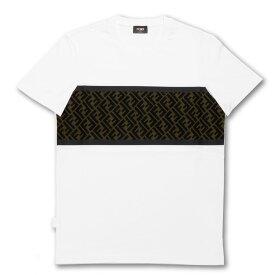 フェンディ FENDI Tシャツ メンズ FAF532 AD3C F0ZNM 半袖Tシャツ WHITE ホワイト
