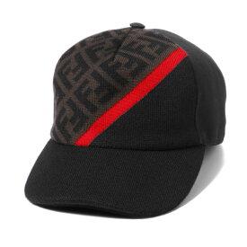 フェンディ FENDI キャップ メンズ FXQ768 AEVF F1DPC MUD+DARK BROWN+RED ブラック/ブラウン