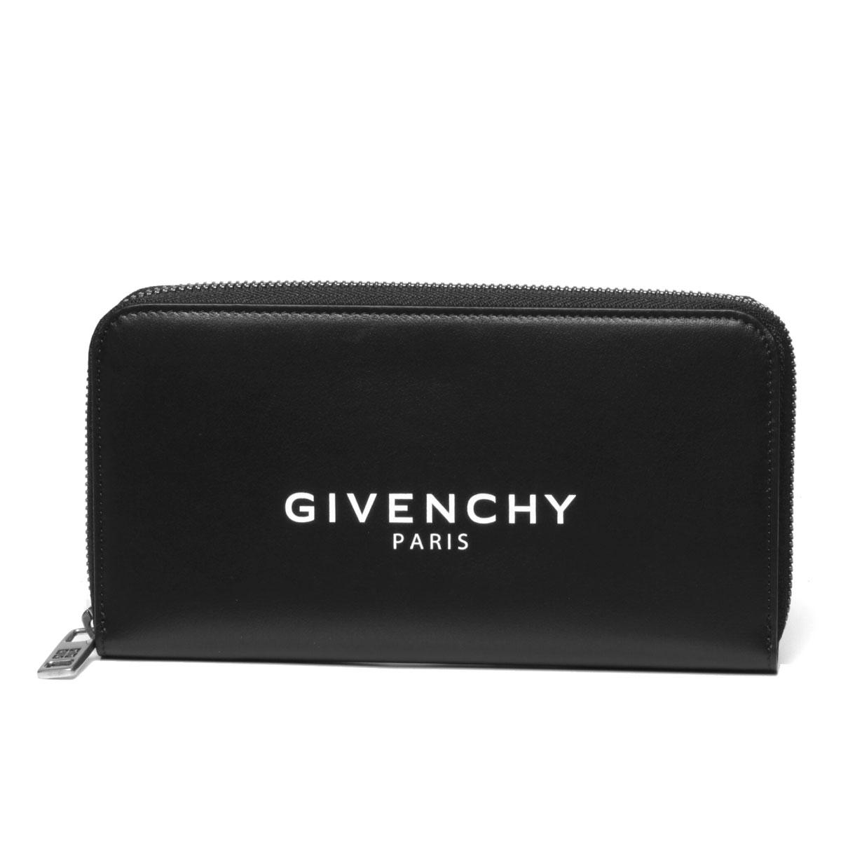 ジバンシー GIVENCHY 財布 メンズ BK600GK0AC 001 ラウンドファスナー長財布 BLACK ブラック