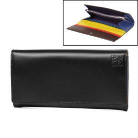 ロエベ LOEWE 財布 レディース 199 54 K98 2030 9991 二つ折り長財布 MULTICOLOR/BLACK ブラック