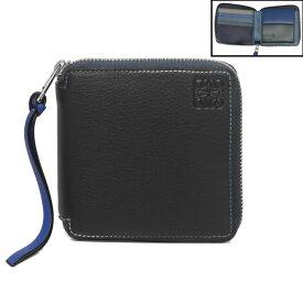 ロエベ LOEWE 財布 メンズ 135 30RM88 2080 9990 ラウンドファスナー二つ折り財布 MULTICOLOR ブラック