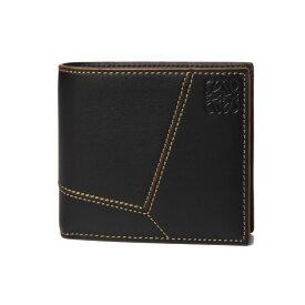 ロエベ LOEWE 財布 メンズ C510118X01 2030 1100 二つ折り財布 PUZZLE パズル BLACK ブラック