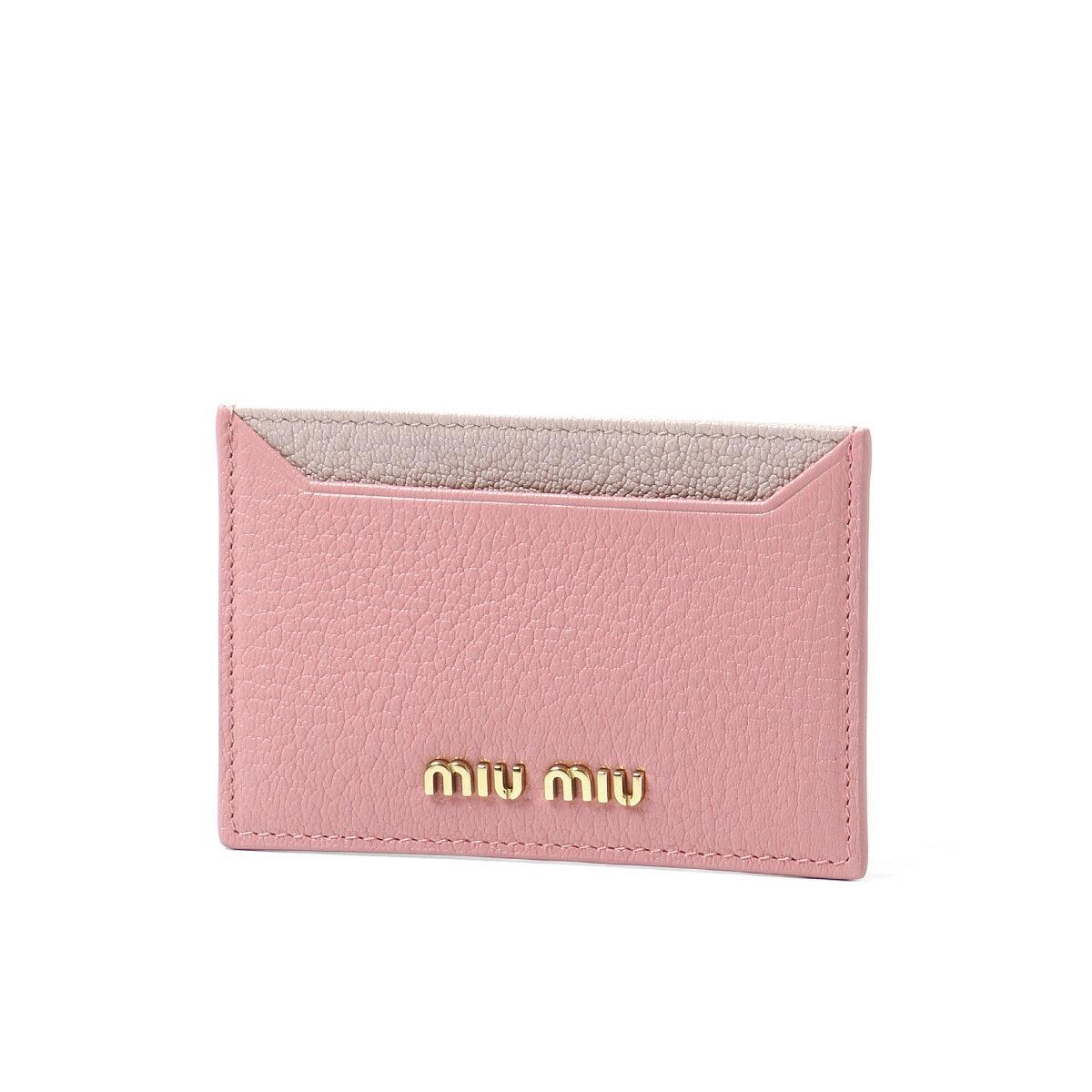 ミュウ ミュウ MIU MIU カードケース レディース 5MC208 2BJI F0387 MADRAS COLOUR B ROSA/MUGHETTO ピンク