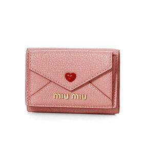 ミュウ ミュウ MIU MIU 財布 レディース 5MH021 2BC3 F0028 三つ折り財布 MADRAS LOVE ROSA ピンク