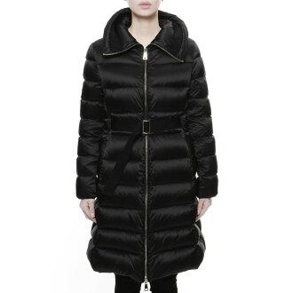 Down coat BERGERONETTE ベルジェロネッテ BLACK black with Monk rail MONCLER outer Lady's BERGERONETTE 57869 999 belt