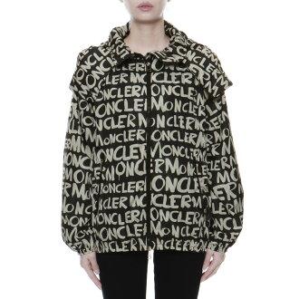 Jacket HANOI Hanoi BLACK black with Monk rail MONCLER outer Lady's HANOI 539GY 999 food