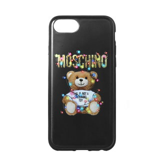 Moschino MOSCHINO iPhone6/6s/7/8 case Lady's 7979 8351 1555 BLACK black