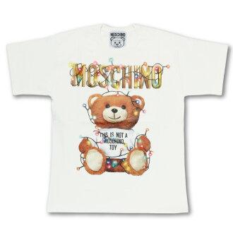 Moschino MOSCHINO T-shirt Lady's 0799 4040 1002 short-sleeved T-shirt WHITE white