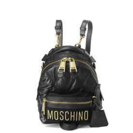 モスキーノ MOSCHINO バッグ レディース 7606 8207 1555 ショルダー付 バックパック BLACK ブラック