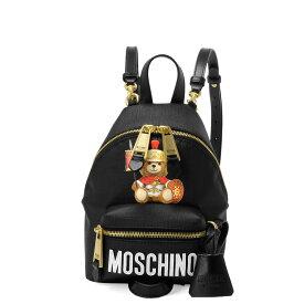 モスキーノ MOSCHINO バッグ レディース 7637 8210 1555 ショルダー付 バックパック ミニ BLACK ブラック