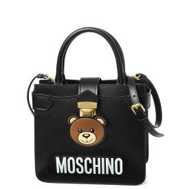 モスキーノ MOSCHINO バッグ レディース 7458 8006 1555 ショルダー付 ハンドバッグ BLACK ブラック