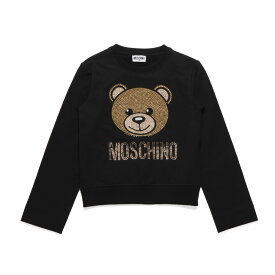 モスキーノ MOSCHINO スウェット キッズ ガールズ HDF025 LDA20 60100 長袖スウェット BLACK ブラック 6A-8A