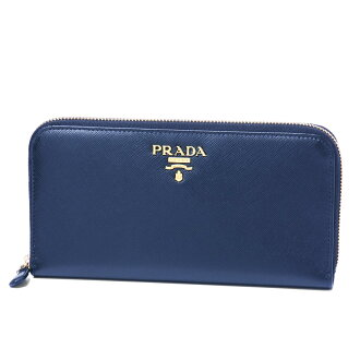 Dark blue 1ML506 QWA F 0016, large zip around wallet BLUETTE, Prada PRADA SAFFIANO METAL