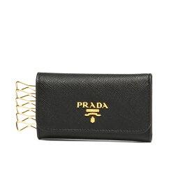 プラダ PRADA キーケース レディース 1PG222 QWA F0002 SAFFIANO METAL NERO ブラック