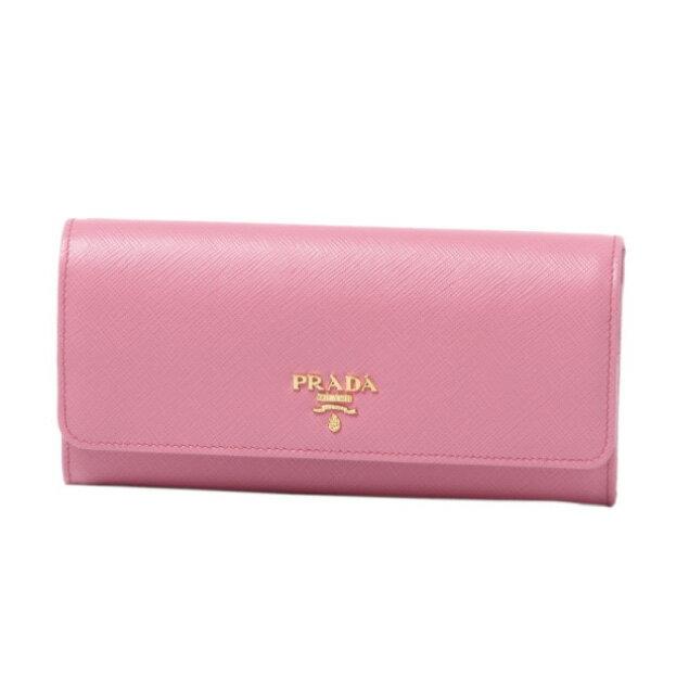 プラダ PRADA 財布 レディース 1MH132 ZLP F0DLG 二つ折り長財布 SAFFIANO MULTIC BEGONIA+FUXIA ピンク