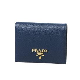 a127c9ef0ec9 プラダ PRADA 財布 レディース 1MV204 QWA F0016 二つ折り財布 SAFFIANO METAL BLUETTE ダークブルー