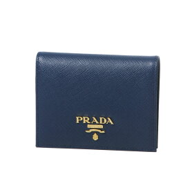 6e525340d65d プラダ PRADA 財布 レディース 1MV204 QWA F0016 二つ折り財布 SAFFIANO METAL BLUETTE ダークブルー