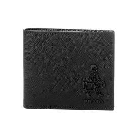 プラダ PRADA 財布 メンズ 2MO513 2AHF F0002 二つ折り財布 SAFFIANO TRAVEL NERO ブラック