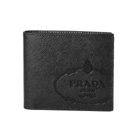 プラダ PRADA 財布 メンズ 2MO513 2MB8 F0002 二つ折り財布 SAFFIANO PRINT NERO ブラック